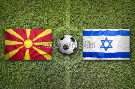 macedonia vs israel flags on soccer