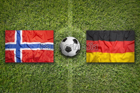 norway vs germany flags on soccer