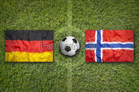germany vs norway flags on soccer