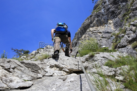 climber on the climb