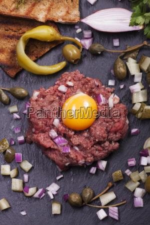 steak tartare with decoration