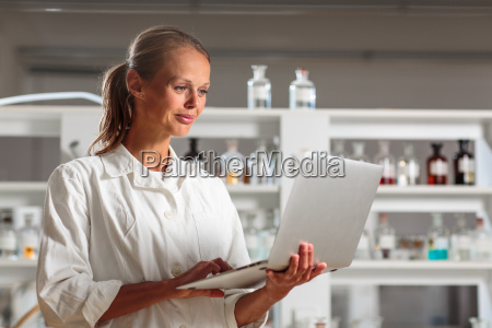 portrait of a female researcher doing