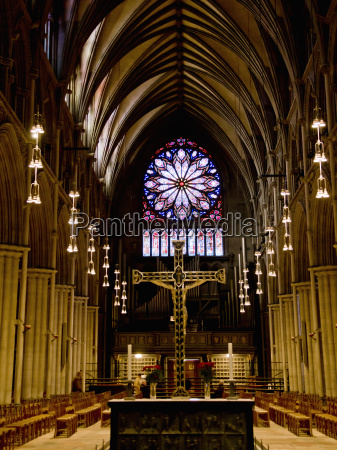 interior of the nidaros cathedral in