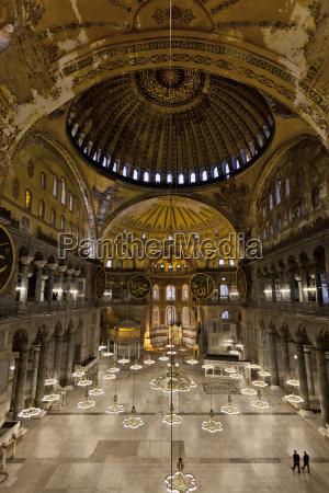 interior view of the hagia sophia