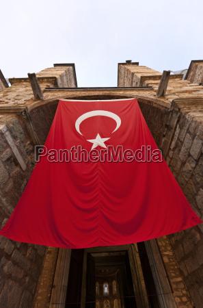 turkish flag at hagia sophia istanbul