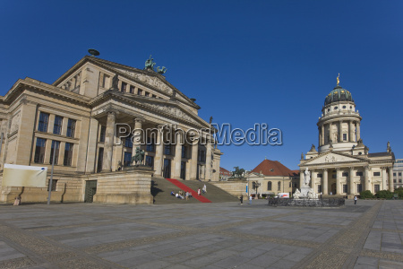 gendarmenmarkt with french cathedral and concert
