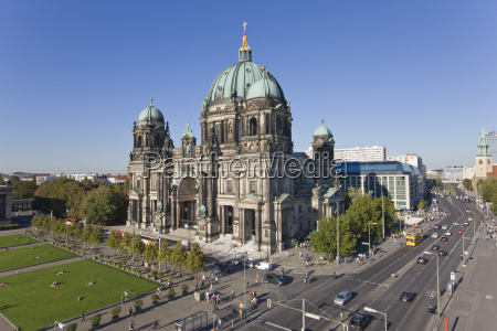 exterior view of berlin cathedral berlin