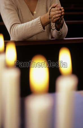 close up of candles lit with