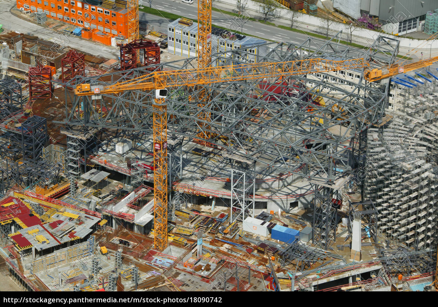 aerial, view, of, a, construction, site, - 18090742