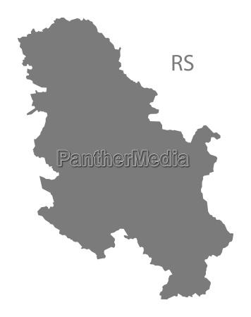 serbia map grey