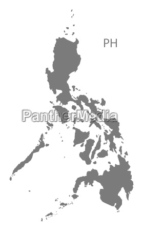 philippines map grey