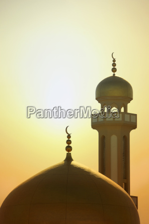 minaret and cupola of mosque of