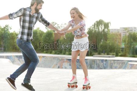 first time on roller skates