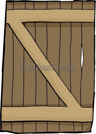 single old reinforced wooden door