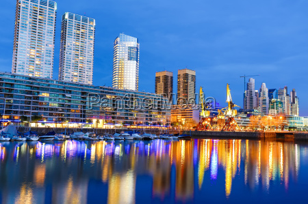 puerto madero in buenos aires at
