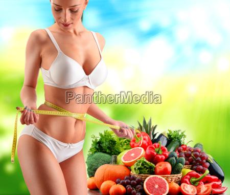 balanced diet based on raw organic