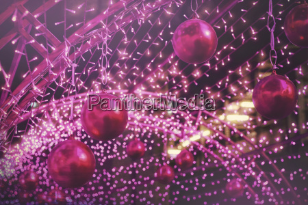 ball colorful bokeh lights