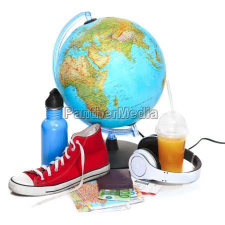 the blue globe sneakers thermos and