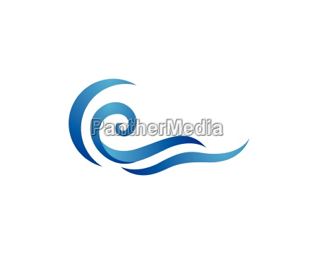 water, wave, logo, template - 18113222