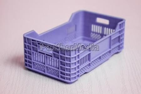 purple plastic fruit and vegetable box