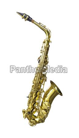 golden alto saxophone isolated