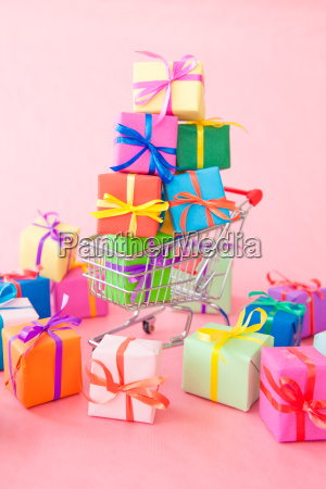 many colorful gifts