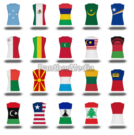 compilation of nationals flag shirt icon