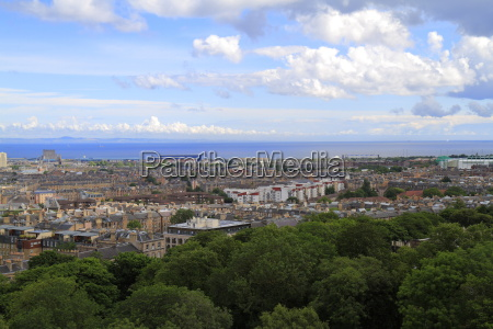 a view over edinburgh from calton
