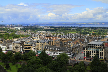 a view over edinburgh from castle