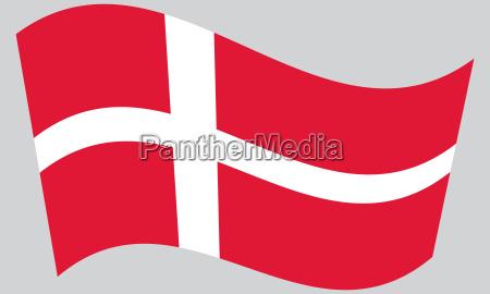 flag of denmark waving