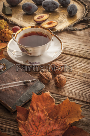 cup of tea with gift