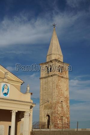 caorle church madonna dell angelo pier
