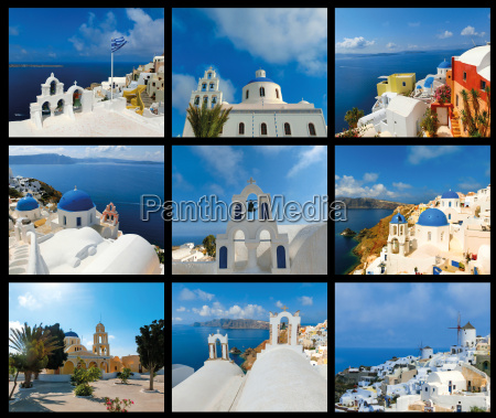 scenic view of traditional cycladic white