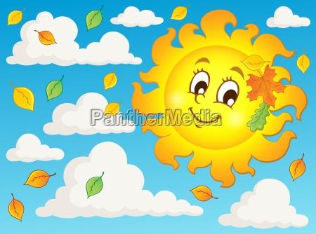 happy autumn sun theme image 2