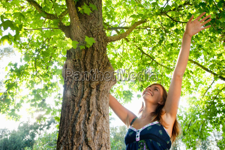 girl with a tree