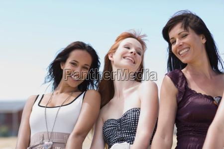 3 girl friends for blue sky