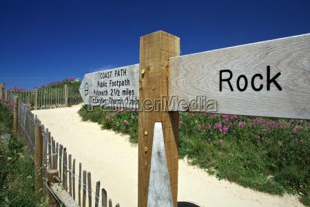 signpost to rock cornwall