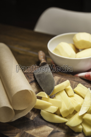 still life of peeled and sliced