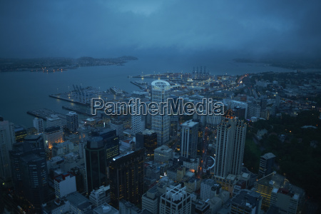 high angle view of auckland at