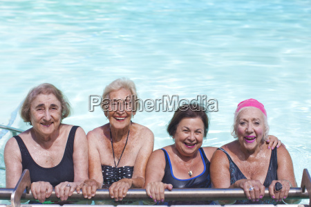 portrait of four senior women in