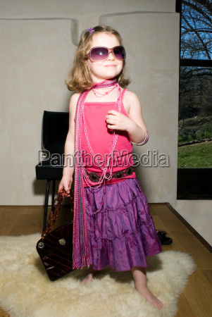 girl dressed for a party