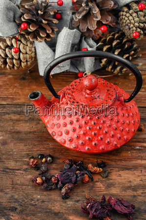 stylish tea still life