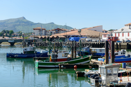 fishing boats in the port of