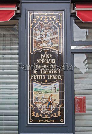 sign in shop window of a