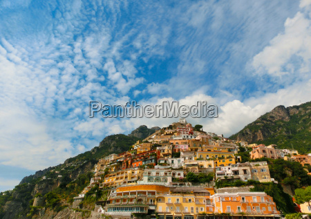 view on positano at amalfi coast
