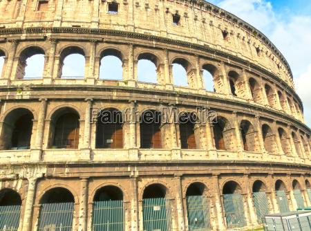 view of colosseum in rome and