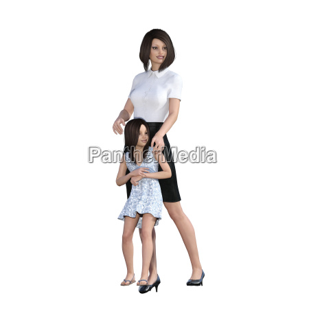 mother daughter interaction of enjoying time