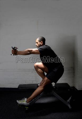 sportsman in gym