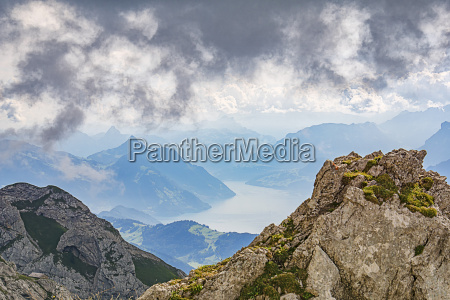 pilatus massif with a view of