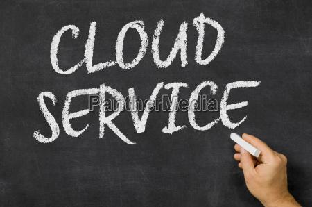 text on blackboard cloud service